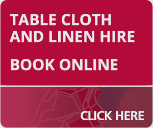 table cloth and linen hire online